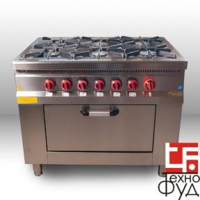 Плита промышленная с газовым контроллером M015-6