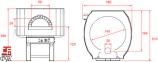 Печь для пиццы газовая Design G 140 S   0