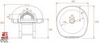 Дровяная печь для пиццы Design D140K Mosaic 0