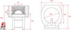 Дровяная печь для пиццы Design D120C 0