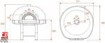 Дровяная печь для пиццы Design D120K\Red Mosaic 0