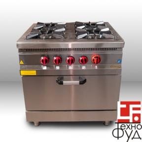 Плита промышленная M015-4X с духовкой