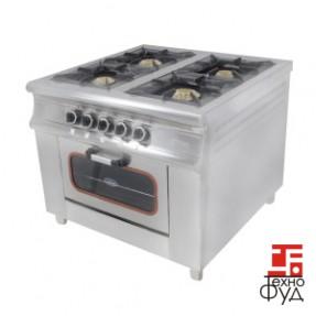 Плита промышленная с газовым контроллером М015-4 (40х40)