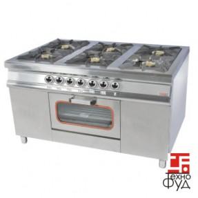 Плита промышленная с газовым контроллером M015-6(40х40)