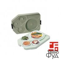 Теплоизолированный поднос Euronorm ITPD 3753 с фарфоровой посудой