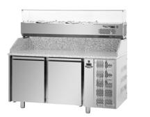 Стол для пиццы с холодильной витриной PZ02MID80 + VR4 160 VD