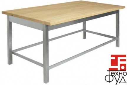 Стол производственный  с деревянной столешницей 1400х600х850мм